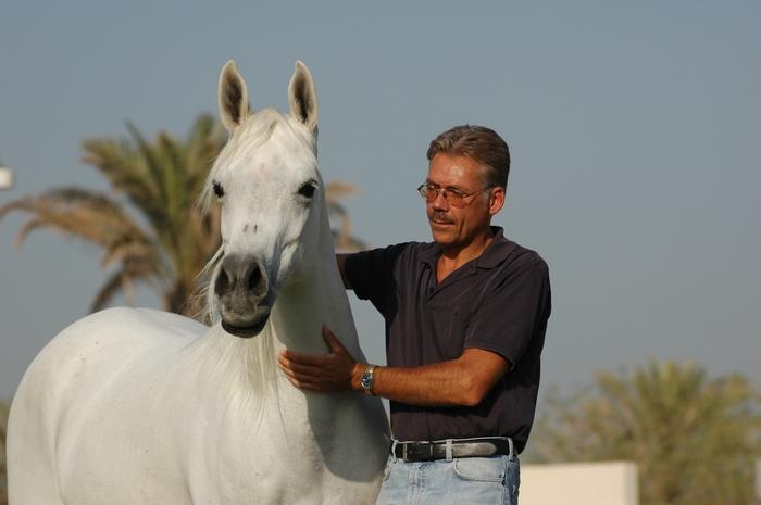 Klaus G. Beste with Latiefa, shared by Bait Al Arab