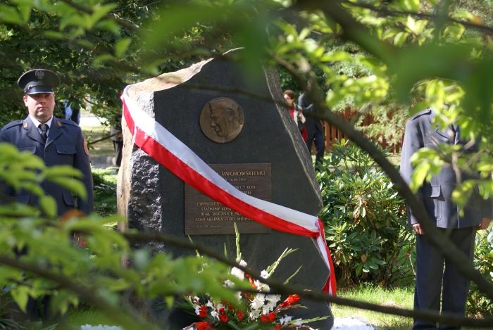 The commemorative plaque honoring Michałów's former director Ignacy Jaworowski, by Krzysztof Dużyński