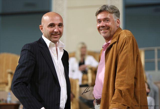 Klaus G. Beste and Gigi Grasso (left), Qatar 2008, by Erwin Escher