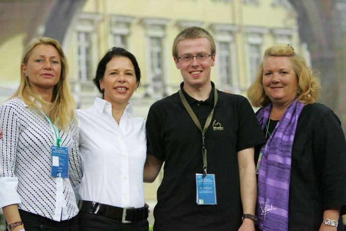 Irina Stigler (Russia), Renata Schibler (Switzerland), our correspondent Mateusz Jaworski and Janice McCrea Wright (USA), by Joanna Jonientz