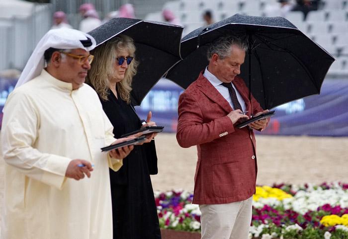 Sędziowie, Puchar Zatoki Perskiej dla Koni Czysto Egipskich, fot. Monika Luft