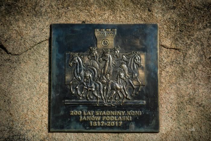 The commemorative plaque honoring the 200 years anniversay of Janów Podlaski Stud, by Ewa Imielska-Hebda