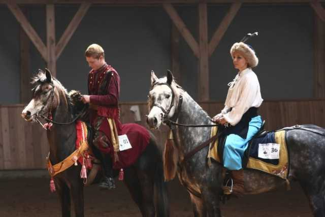 Western & Arabian Show 2008 – Danuta Konończuk na Salero oraz Krzysztof Adamczyk i Eksa, fot. Marta Wołtosz