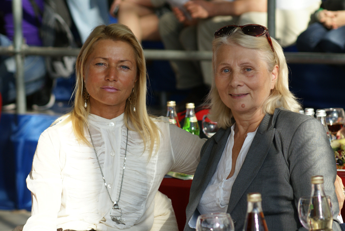 Irina Stigler z mamą, Narodowy Czempionat Rosji 2014, fot. Monika Luft