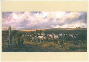A herd of horses. Painting by Juliusz Kossak (1879). Photo: archive