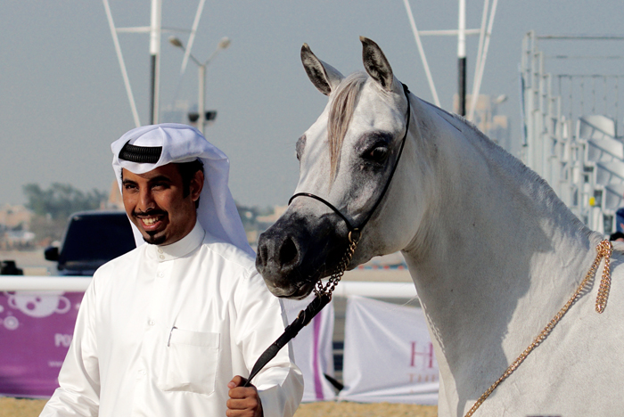 Deema Al Nasser with Nasser Al Hajri, by Monika Luft