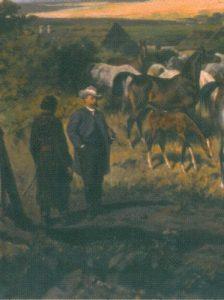 Dionizy Trzeciak on the Juliusz Kossak's painting