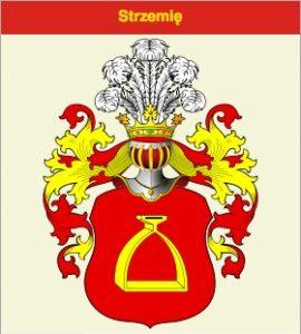 Dionizy Trzeciak's coat of arms (Stirrup)
