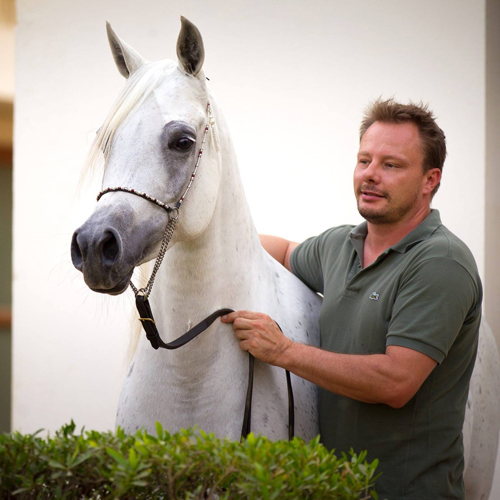 Glenn Jacobs with the mare Toya Al Naif (archive photo)