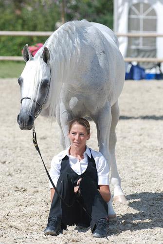 Class winner Emrod with Johanna Ullström. By Mateusz Jaworski
