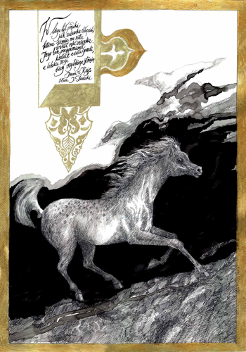 Praca z bibliofilskiej teki rysunków prof. Andrzeja Strumiłły (Rysunki - koń, Wydawnictwo Edyty Wittchen, 2013)