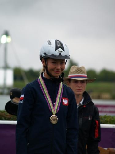 Kamila Kart z medalem Mistrzostw Europy. Fot. Maciej Merkan