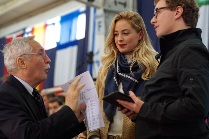 The moment when judges are chosen by draw. Wolfgang Eberhardt (ANC Manager), BrookMarie Jarvis (Jarvis Insurance), Michael Steurs (ArabianHorseResults), by Krzysztof Dużyński