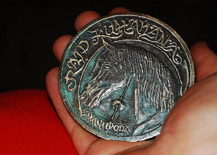 Pamiątkowy medal, odlany z brązu przez Bartłomieja Sęczawę