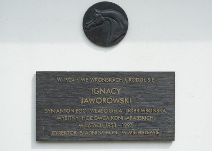 The commemorative plaque to honour the late director Ignacy Jaworowski from Michałów State Stud. By Krzysztof Dużyński