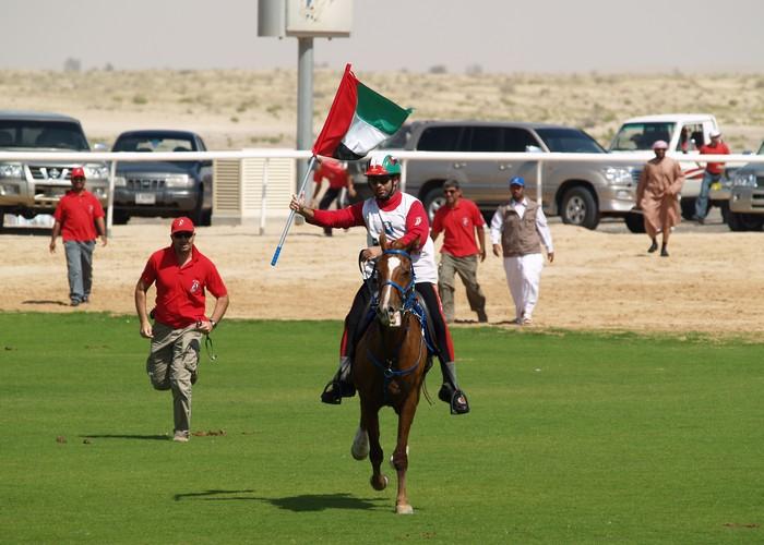 Zwycięzca rajdu, Yousef Ahmed Al Bloushi (ZEA), fot. Magdalena i Robert Rudzińscy