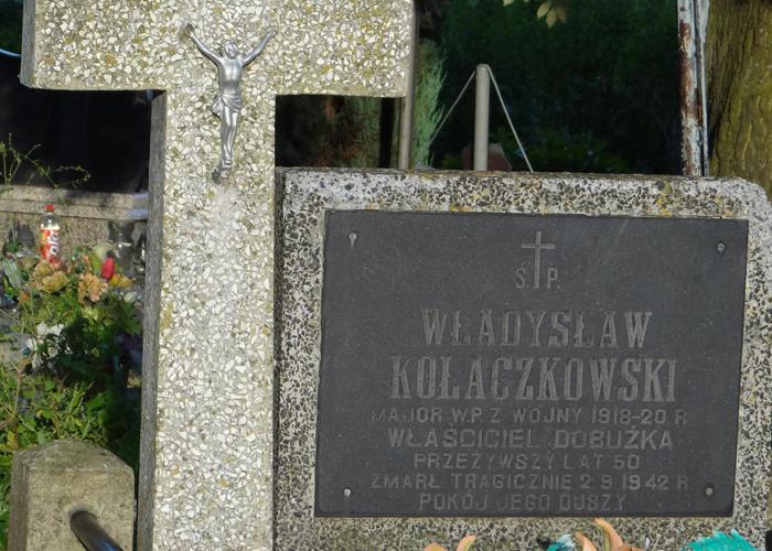Tablica nagrobna Władysława Kołaczkowskiego, fot. Krzysztof Czarnota