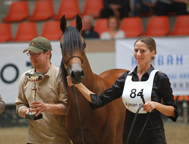 Empressa, Res. Champion Polish Prestige, with Johanna Ullstrom and the author of the article Mateusz Jaworski. By Nancy Lacoste