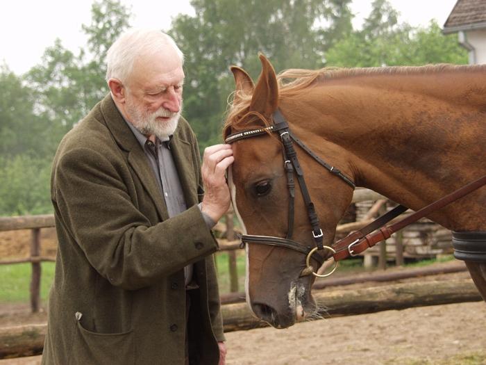 Prof. Andrzej Strumiłło z Czadrą, Maćkowa Ruda 2004, fot. Arkadiusz Szaraniec
