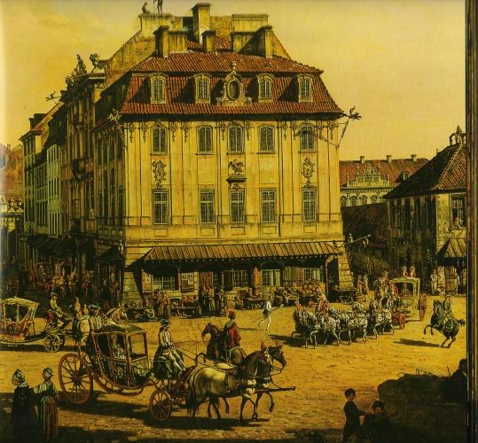 Fragment obrazu Canaletta ze zbiorów Zamku Królewskiego w Warszawie