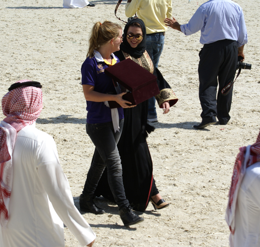 Dana Al Meslemani z Hilke De Bruycker (Al Thumama Stud, Qatar). Fot. Monika Luft