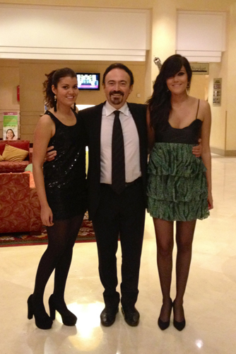 Albert Sorroca with daughters Mireia and Gemma, photo from home archive