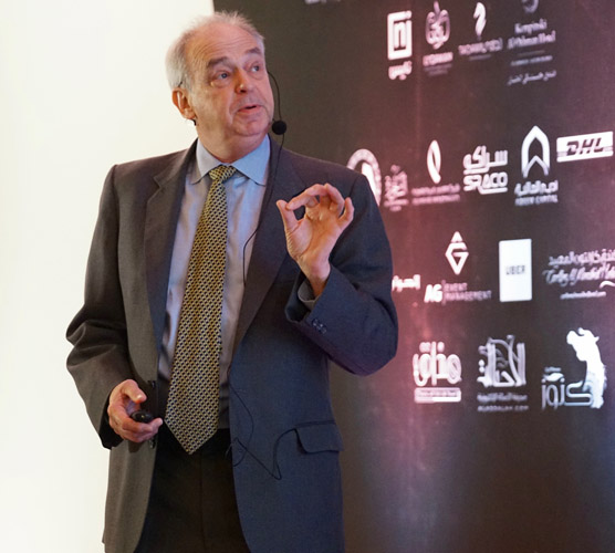 Dr Doug Antczak during the Where It All Began conference in Dammam, by Monika Luft
