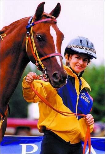Chase Thewind AH z właścicielką, Suzanne Ford Huff. Fot.: www.sudararabians.com