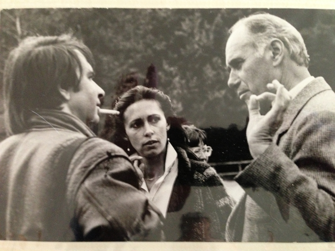 Director Ignacy Jaworowski with Cecile and Richard Philstrom. Home archive photo