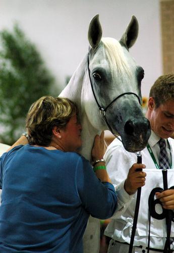 Mrs. Urszula Białobok with Emanda, National Championship, Janów Podlaski 2006. By Ewa Imielska-Hebda