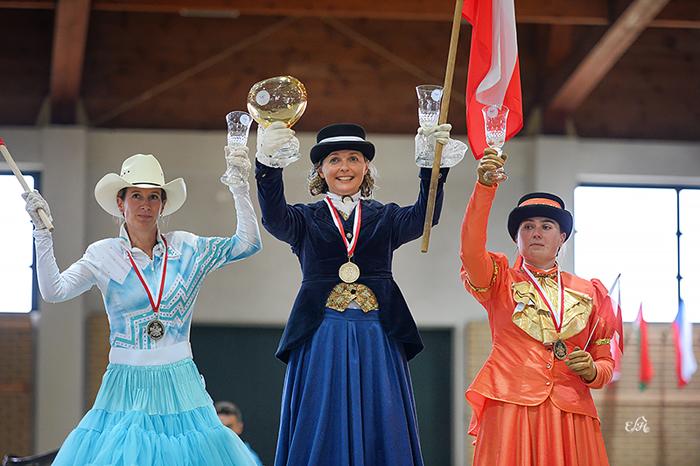Ladies Side Saddle: Danuta Konończuk, Barbara Kristen, Agnieszka Heblik-Kuśnierz, fot. Ewa Imielska-Hebda