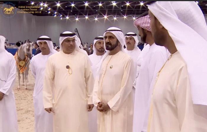 Sh. Muhammad Ibn Rashid Al Maktoum (in the middle) observing Emandoria