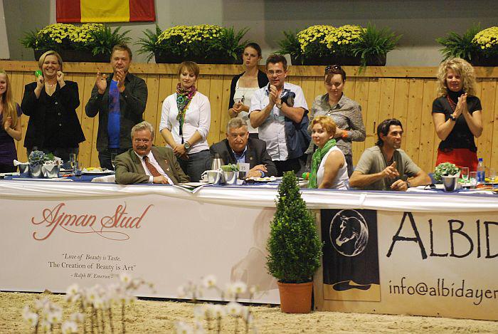 In the middle, at the table: Dr. Marek Trela (Janów Podlaski State Stud), director Jerzy Białobok (Michałów State Stud) and Anna Stojanowska (Agricultural Property Agency). By Mateusz Jaworski
