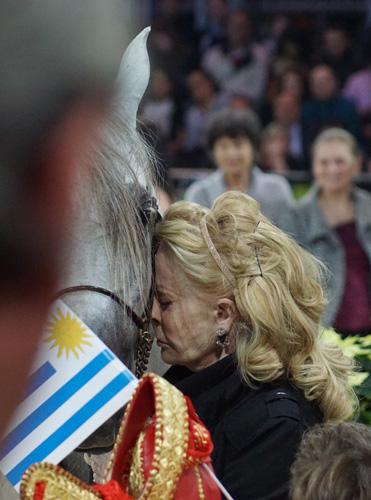 Księżna Laetitia d'Arenberg z Excaliburem EA, fot. Krzysztof Dużyński