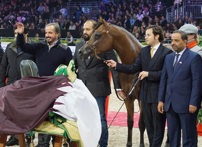 Ghazwan Al Jassimya podczas dekoracji, fot. Krzysztof Dużyński