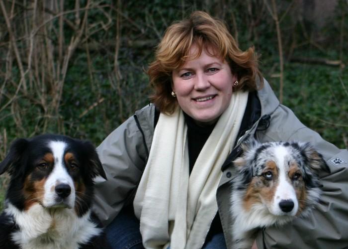 Joanna Jonientz ze swoimi psami, fot. archiwum