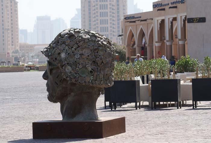 Katara Cultural Village. Rzeźba autorstwa Subodha Gupty. Fot. Monika Luft