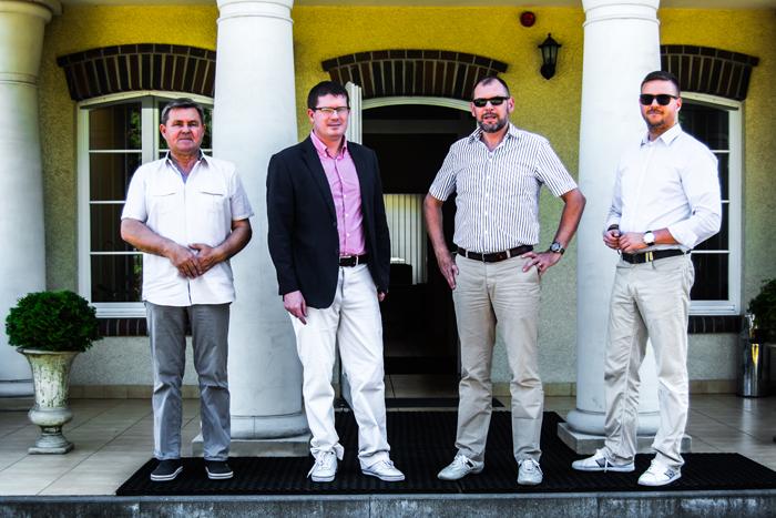 The Organizing Team (from the left): the stud manager Władysław Guziuk, Director Hubert Kulesza, Andrzej Szalkowski, Ryszard Jaranowski. By Adrian Todorczuk