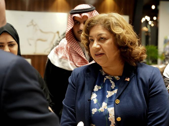 U.S. consul Mrs. Rachna Korhonen, by Monika Luft