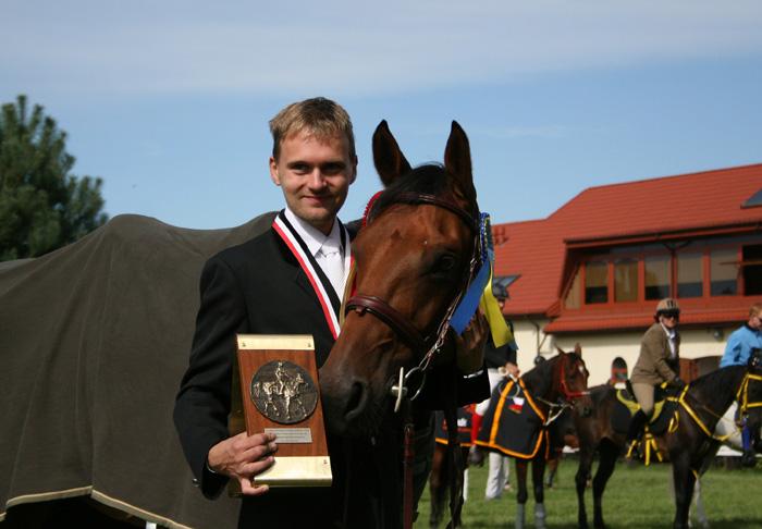 Maciej Kacprzyk and half Arabian gelding Ferro. By Bartłomiej Jankowski