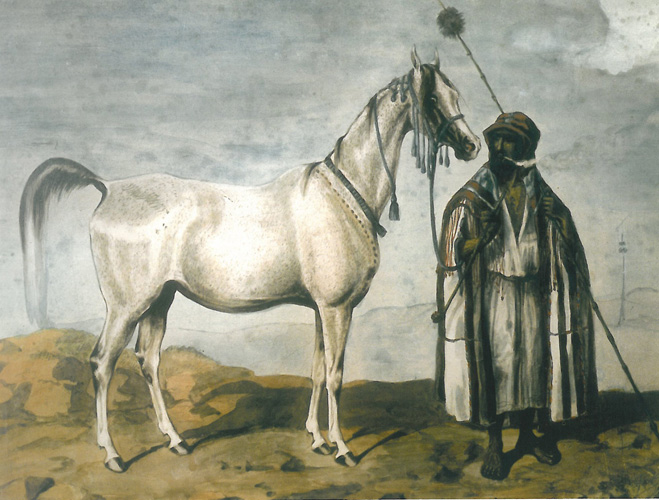 Mlecha painted by Juliusz Kossak (1845). Repr. by Arkadiusz Szaraniec