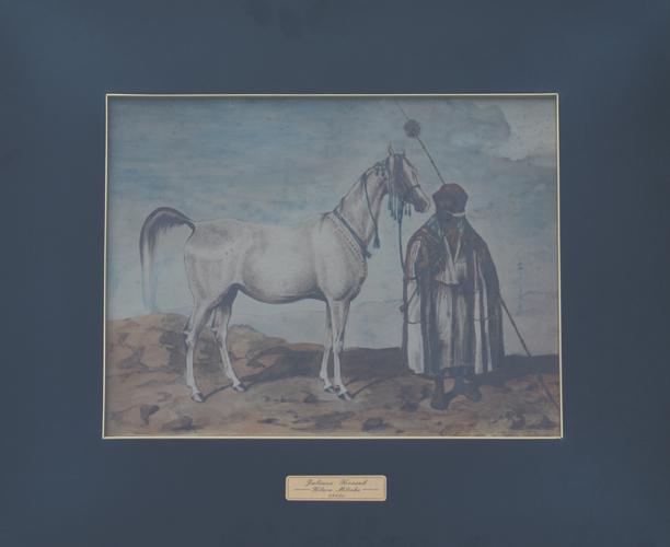 Juliusz Kossak: Mlecha (1845). Obraz jest własnością SK Janów Podlaski. Fot. Krzysztof Dużyński