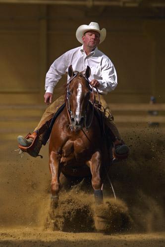 Clint Ramsey, Stare Żukowice '07, Międzynarodowe Zawody NRHA Roleski 4 Spins. Konkurs NRHA Open. Fot. K. Jarczewski