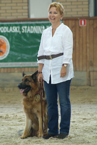 Anna Stojanowska ze swoim podopiecznym, fot. Krzysztof Dużyński