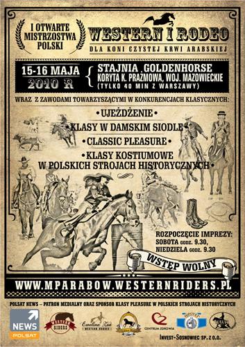 I Mistrzostwa Polski w Konkurencjach Western i Rodeo dla koni arabskich