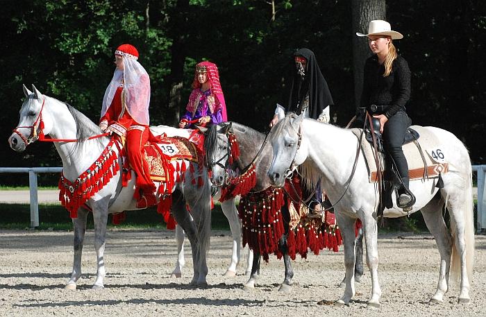 Polskie konie podczas dekoracji: Eurykles, Elbaraday, Decaho, fot. Mateusz Jaworski