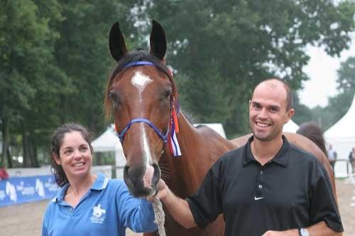 Maria Alvarez Ponton i koń Julius De La Drom, Rajdowe MŚMK w Compiegne 2007, fot. M. Kacprzyk