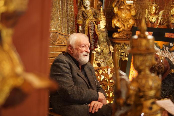 Prof. Andrzej Strumiłło, Galeria Ex Oriente, Warszawa 2015. Fot. Krzysztof Dużyński