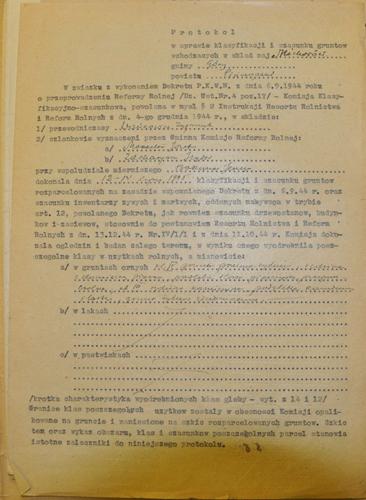 Protokół klasyfikacji gruntów, Archiwum Państwowe w Kielcach