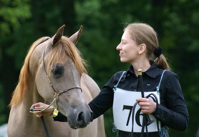 Alicja Poszepczyńska i Psyche Kybele w Białce (2009), fot. Krzysztof Dużyński